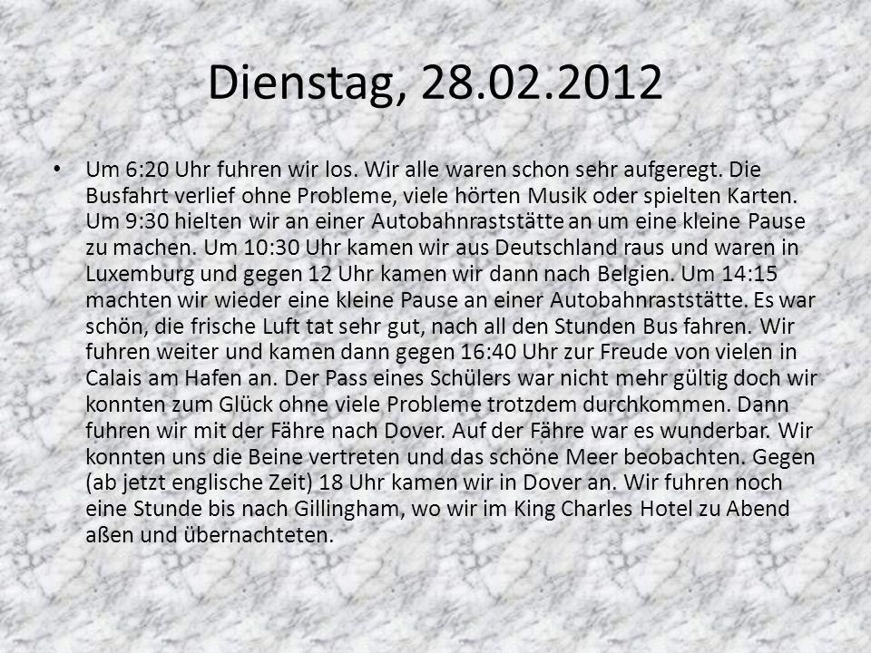 Dienstag, 28.02.2012