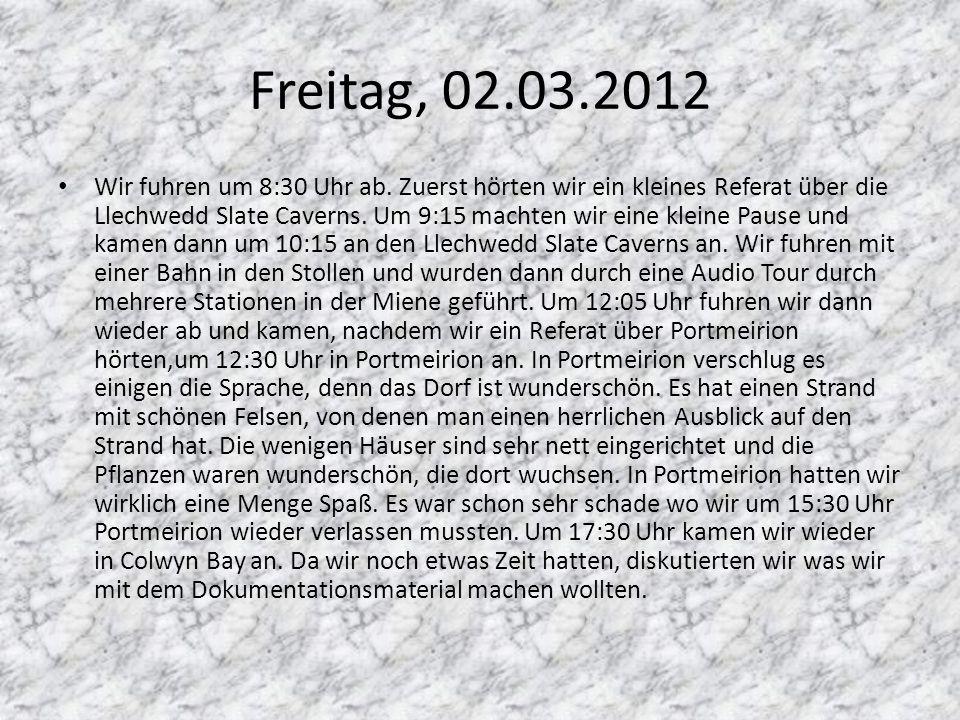 Freitag, 02.03.2012