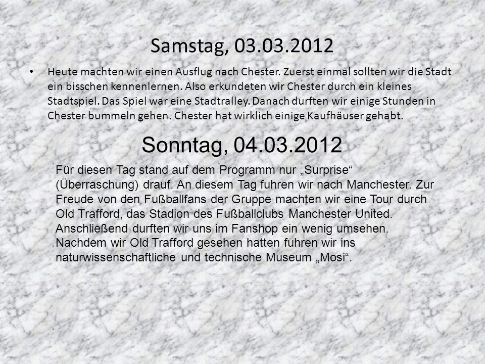 Samstag, 03.03.2012