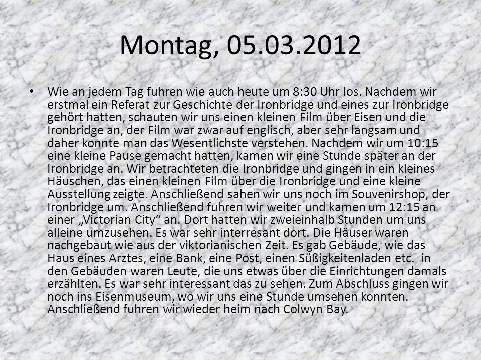 Montag, 05.03.2012