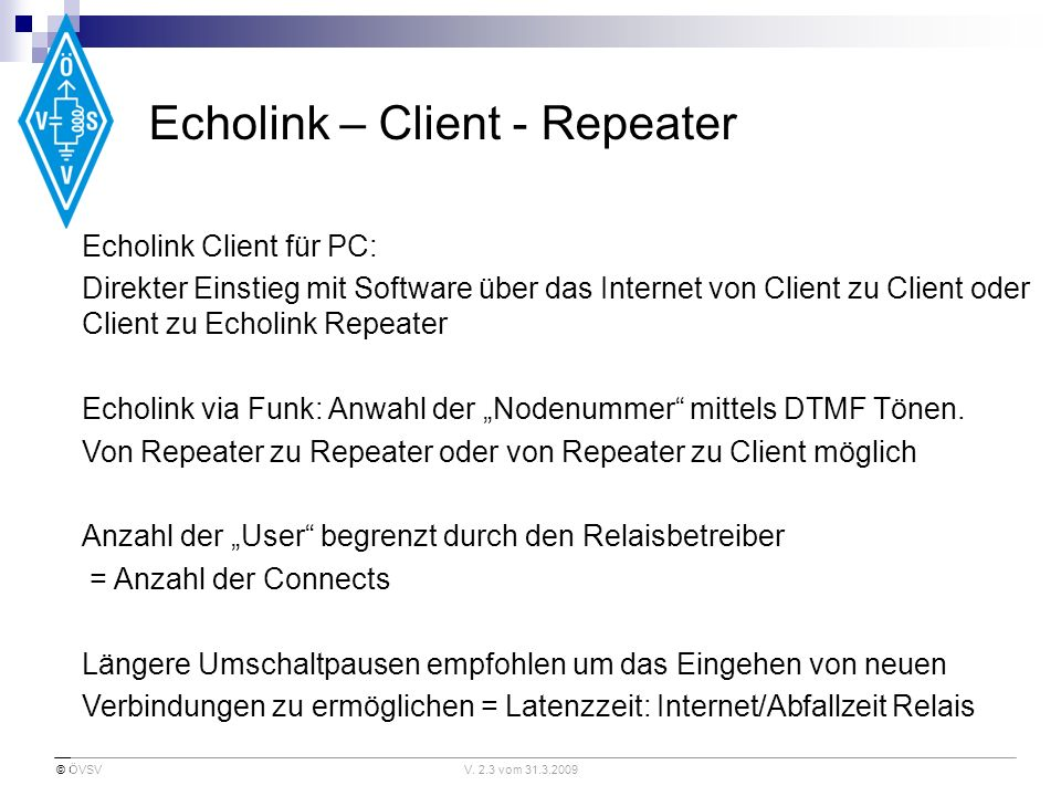 Echolink – Client - Repeater