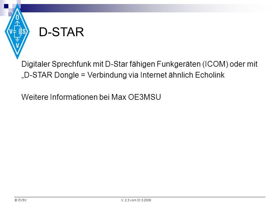 """D-STAR Digitaler Sprechfunk mit D-Star fähigen Funkgeräten (ICOM) oder mit. """"D-STAR Dongle = Verbindung via Internet ähnlich Echolink."""