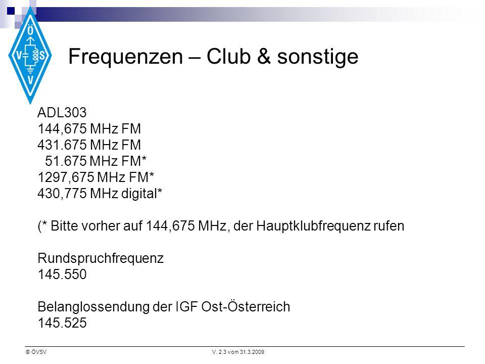 Frequenzen – Club & sonstige