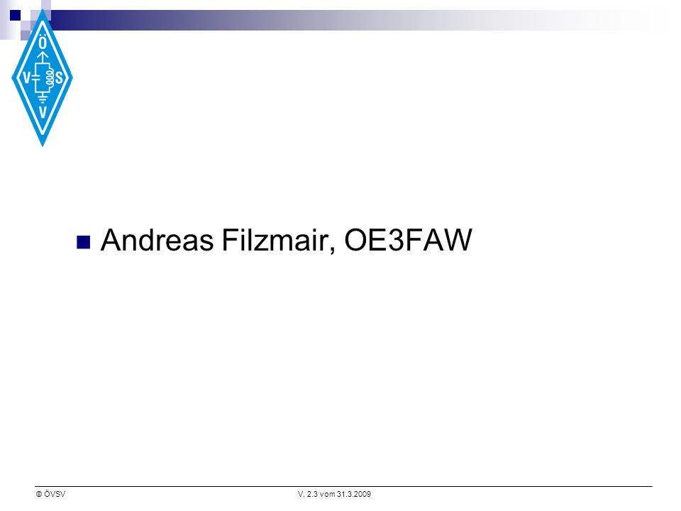 Andreas Filzmair, OE3FAW