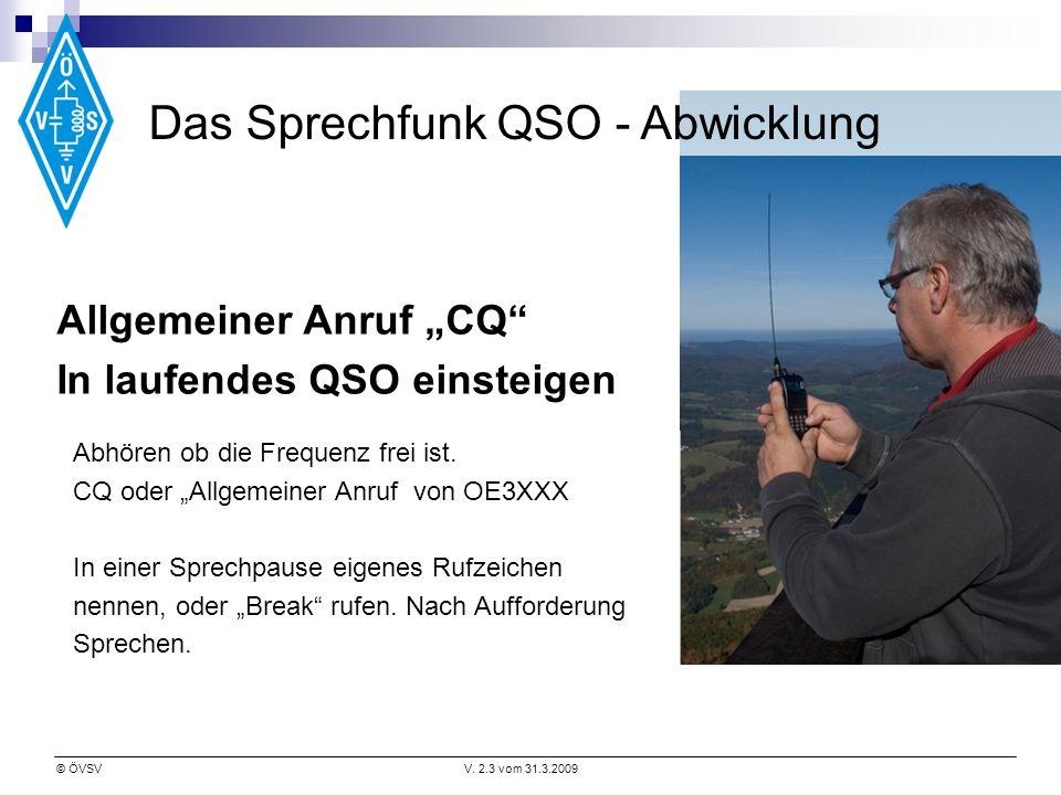 Das Sprechfunk QSO - Abwicklung