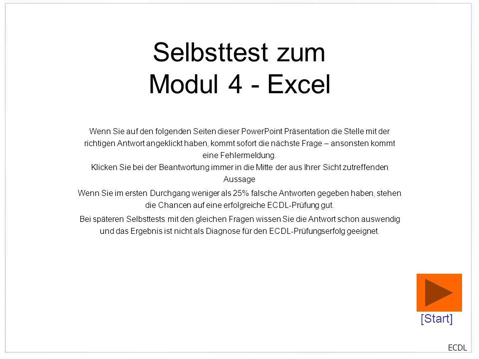 Selbsttest zum Modul 4 - Excel