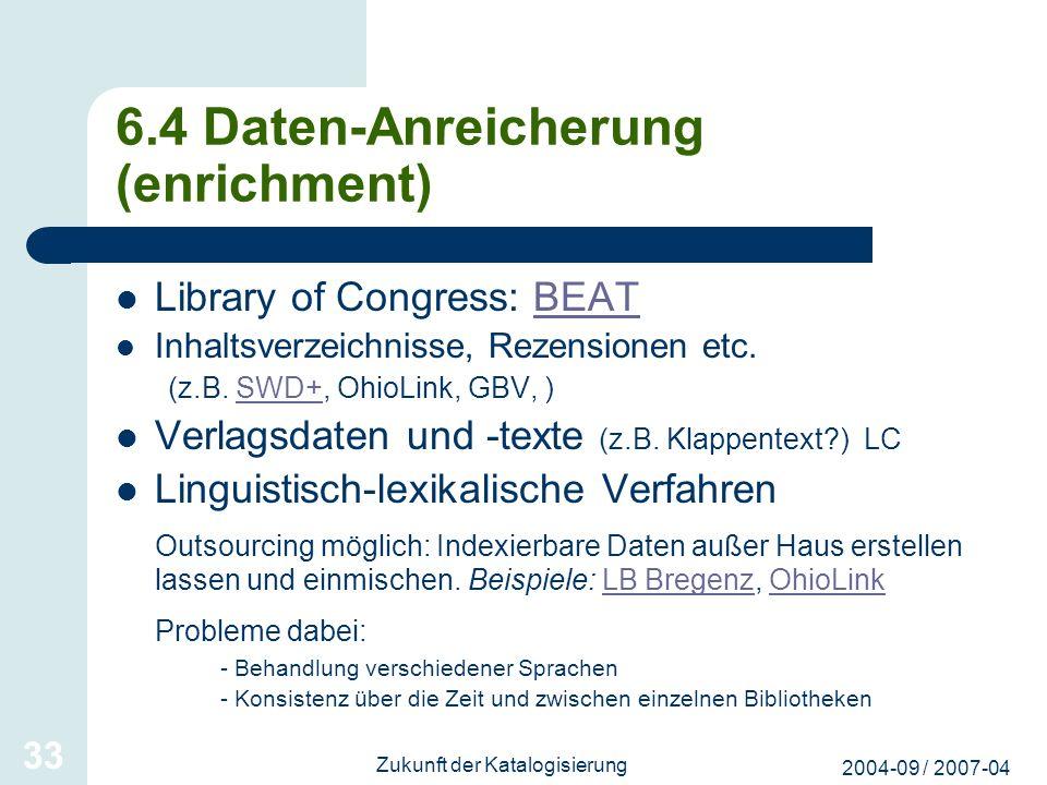 6.4 Daten-Anreicherung (enrichment)