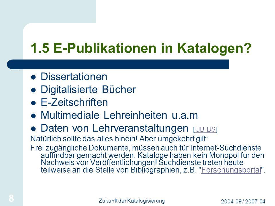 1.5 E-Publikationen in Katalogen