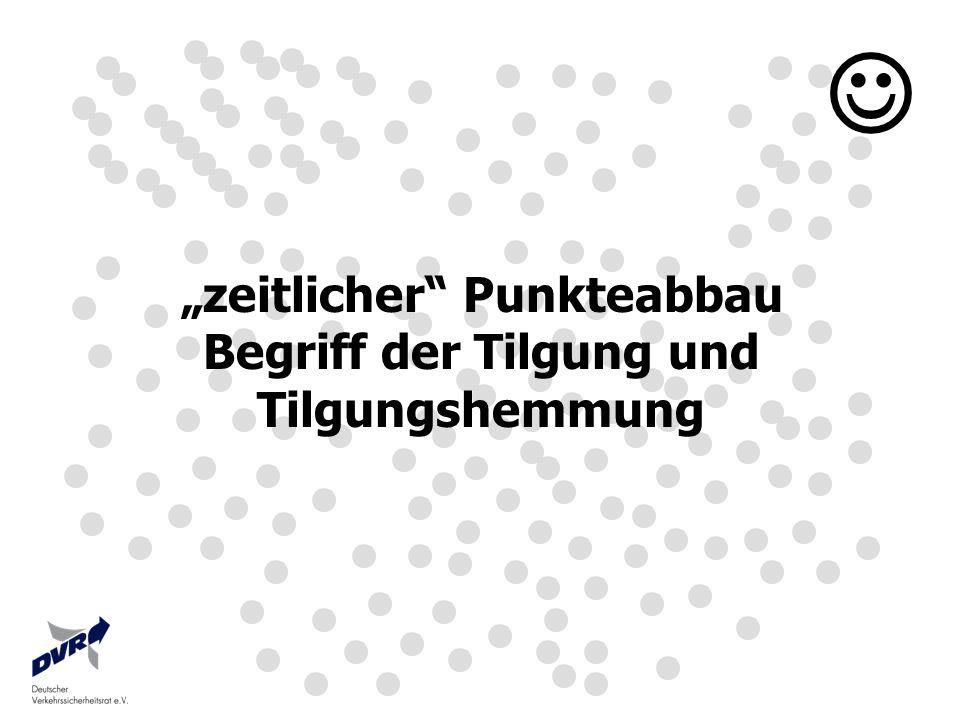 """""""zeitlicher Punkteabbau Begriff der Tilgung und"""
