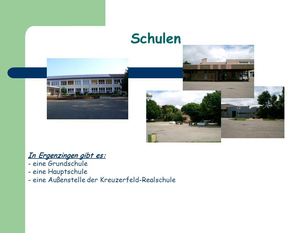 Schulen In Ergenzingen gibt es: eine Grundschule eine Hauptschule
