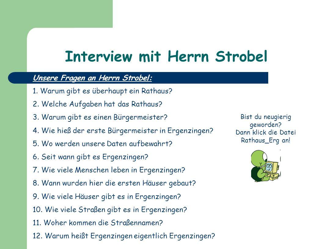 Interview mit Herrn Strobel