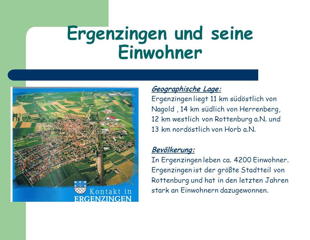 Ergenzingen und seine Einwohner