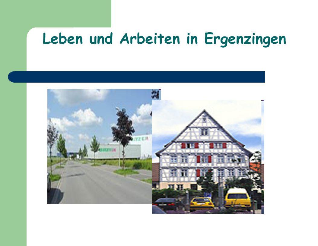 Leben und Arbeiten in Ergenzingen