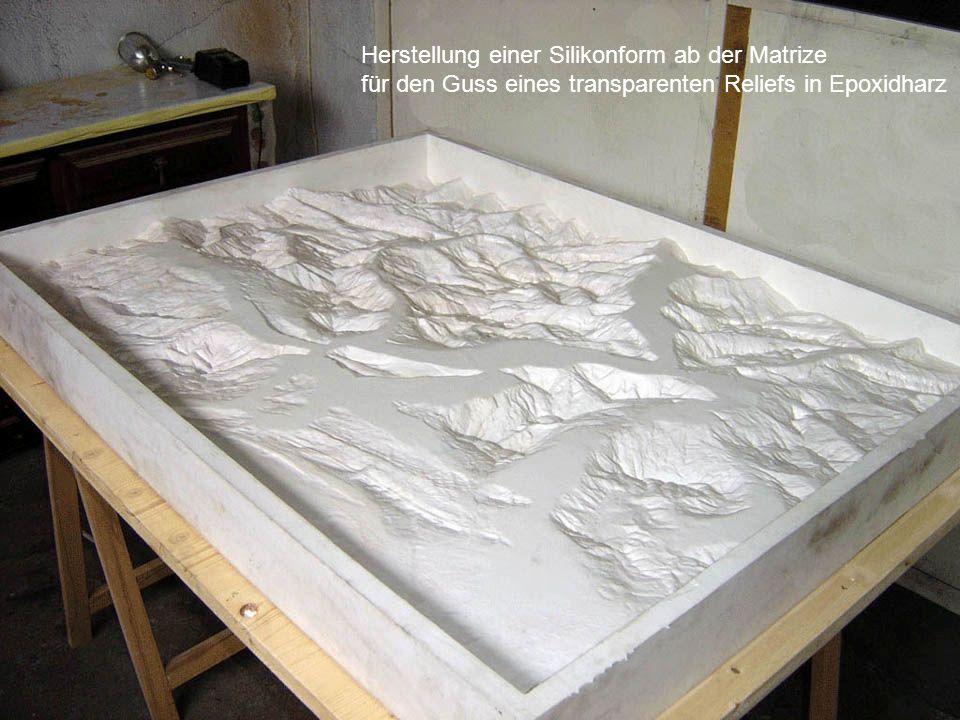 Herstellung einer Silikonform ab der Matrize