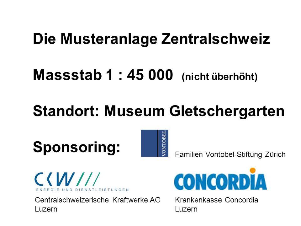 Die Musteranlage Zentralschweiz Massstab 1 : 45 000 (nicht überhöht)