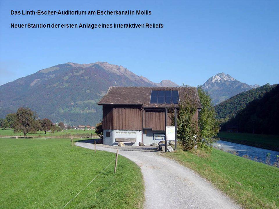 Das Linth-Escher-Auditorium am Escherkanal in Mollis