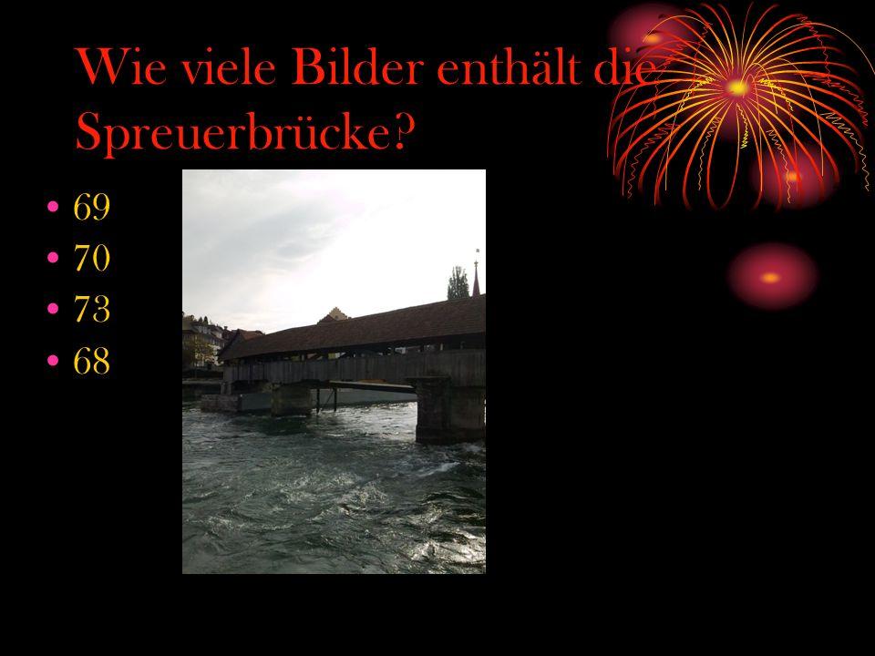 Wie viele Bilder enthält die Spreuerbrücke