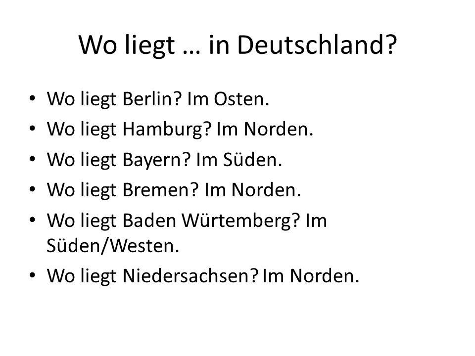 Wo liegt … in Deutschland