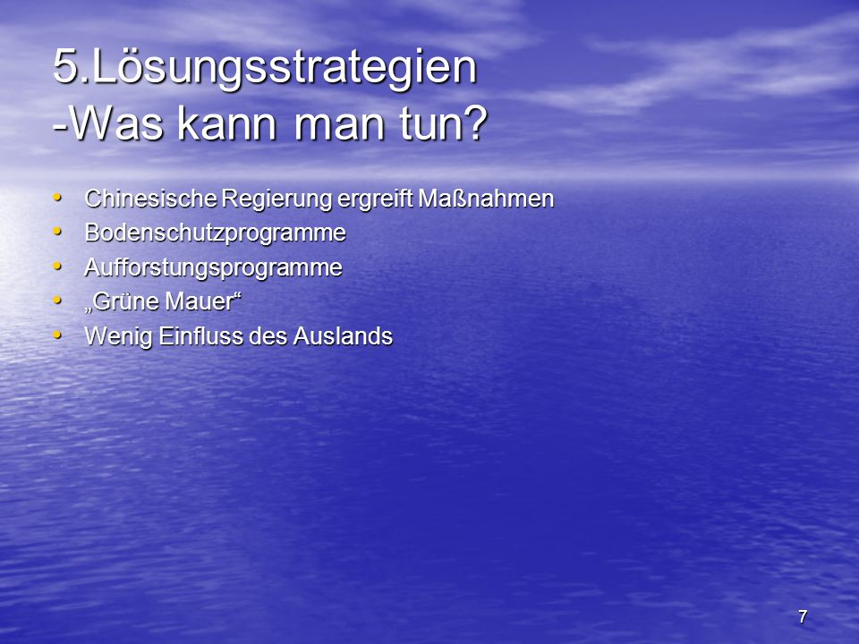 5.Lösungsstrategien -Was kann man tun