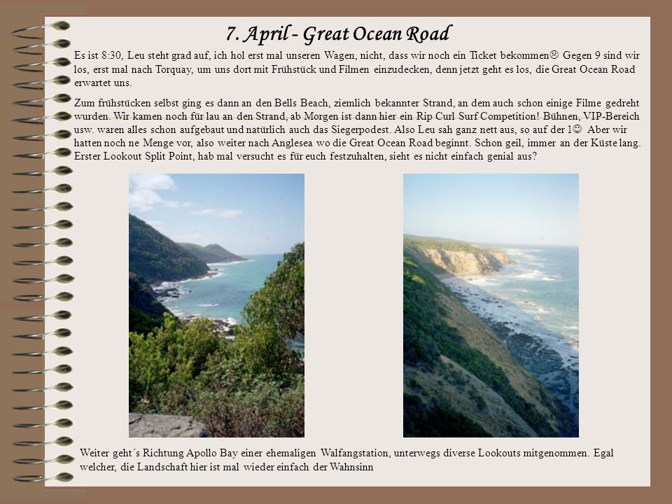 7. April - Great Ocean Road