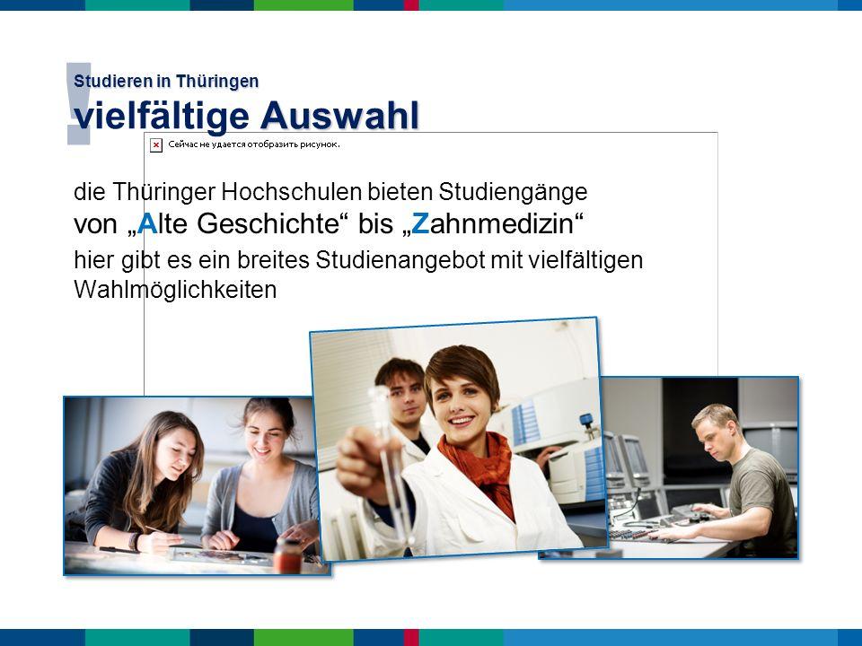 Studieren in Thüringen vielfältige Auswahl