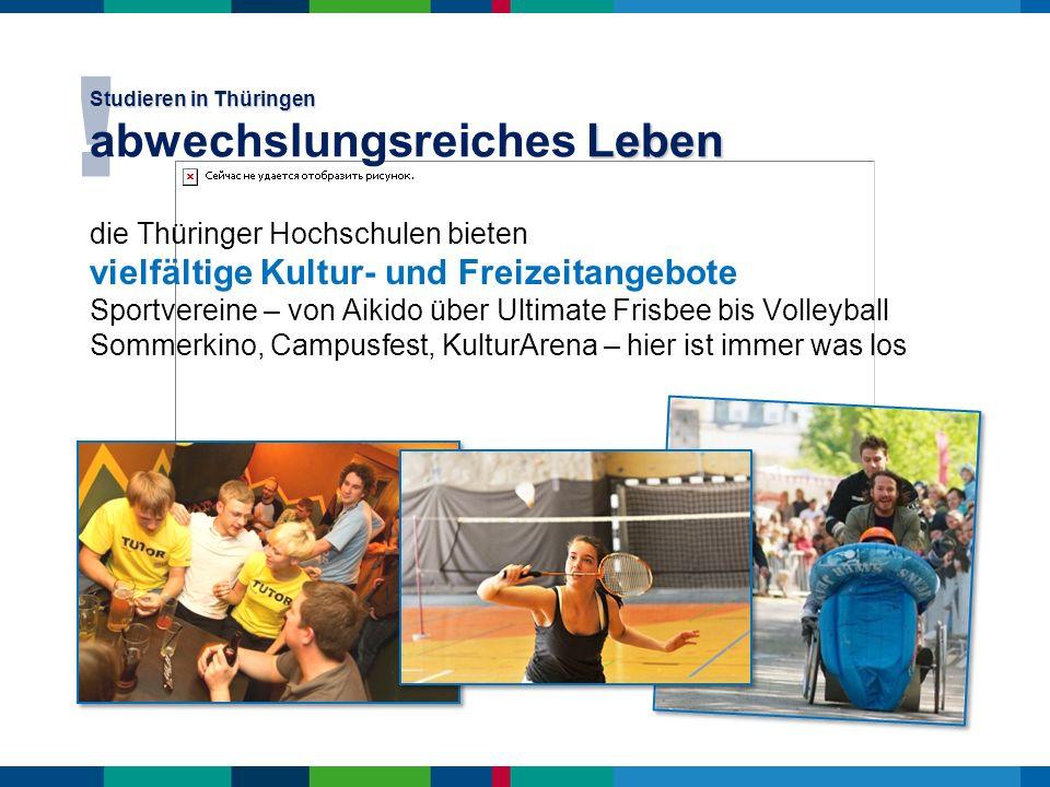 Studieren in Thüringen abwechslungsreiches Leben
