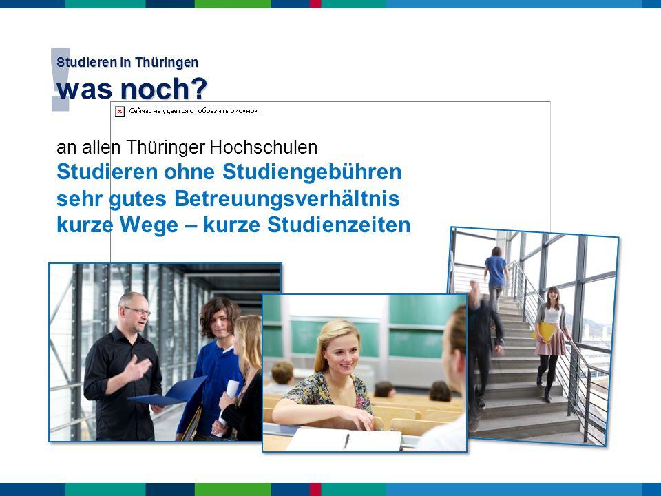 Studieren in Thüringen was noch