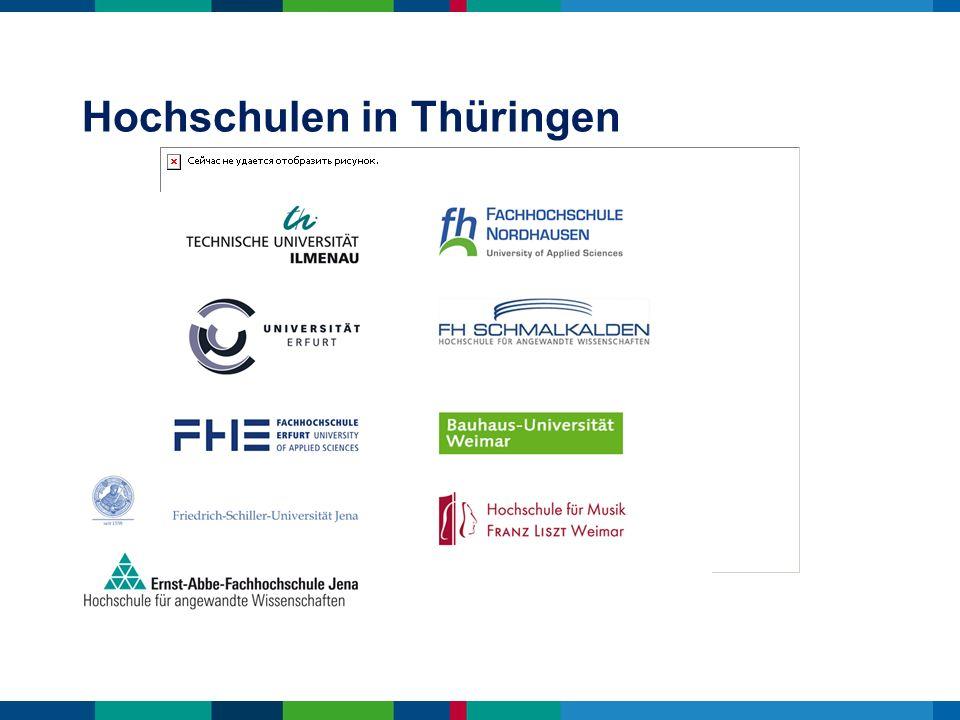Hochschulen in Thüringen
