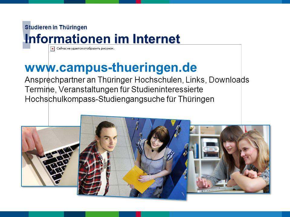 Studieren in Thüringen Informationen im Internet