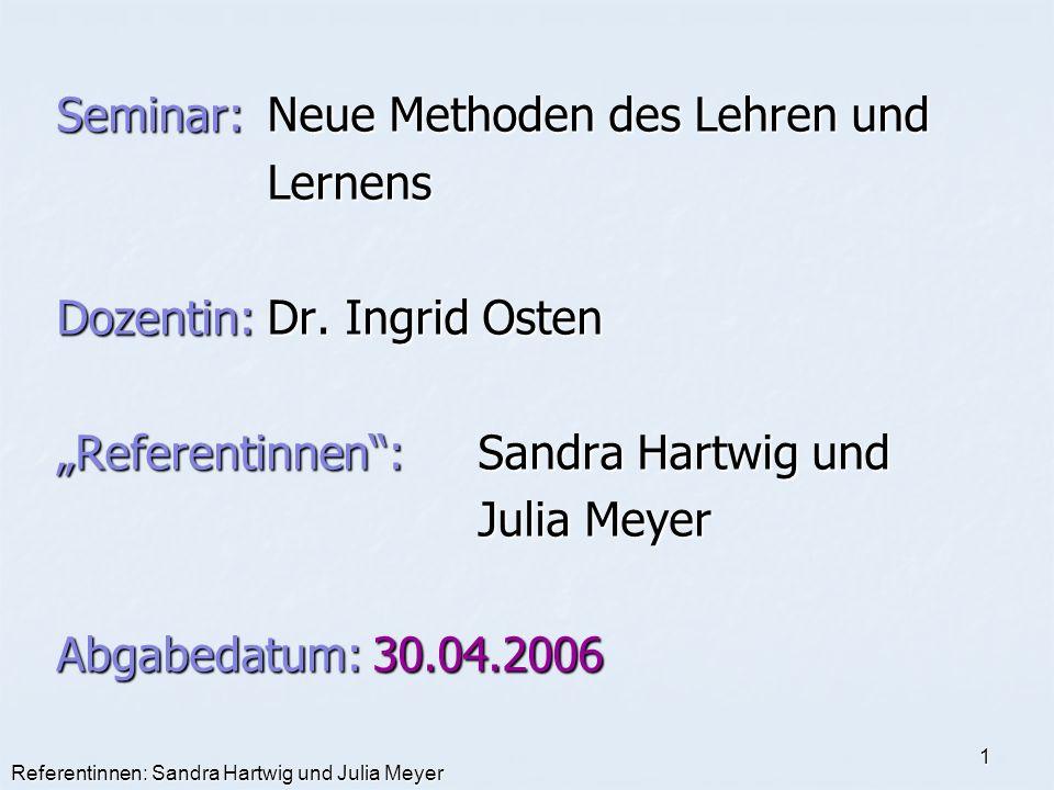 Seminar: Neue Methoden des Lehren und Lernens