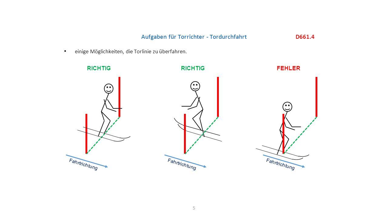 Aufgaben für Torrichter - Tordurchfahrt