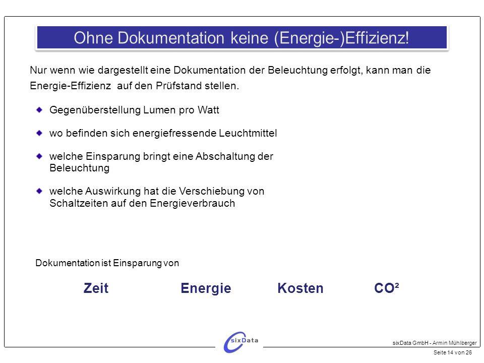 Ohne Dokumentation keine (Energie-)Effizienz!
