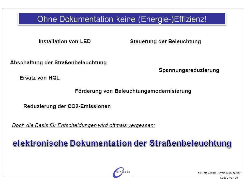 elektronische Dokumentation der Straßenbeleuchtung