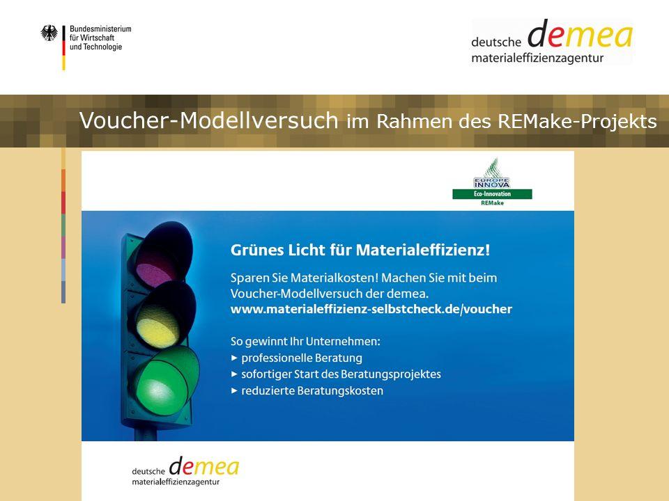 Voucher-Modellversuch im Rahmen des REMake-Projekts