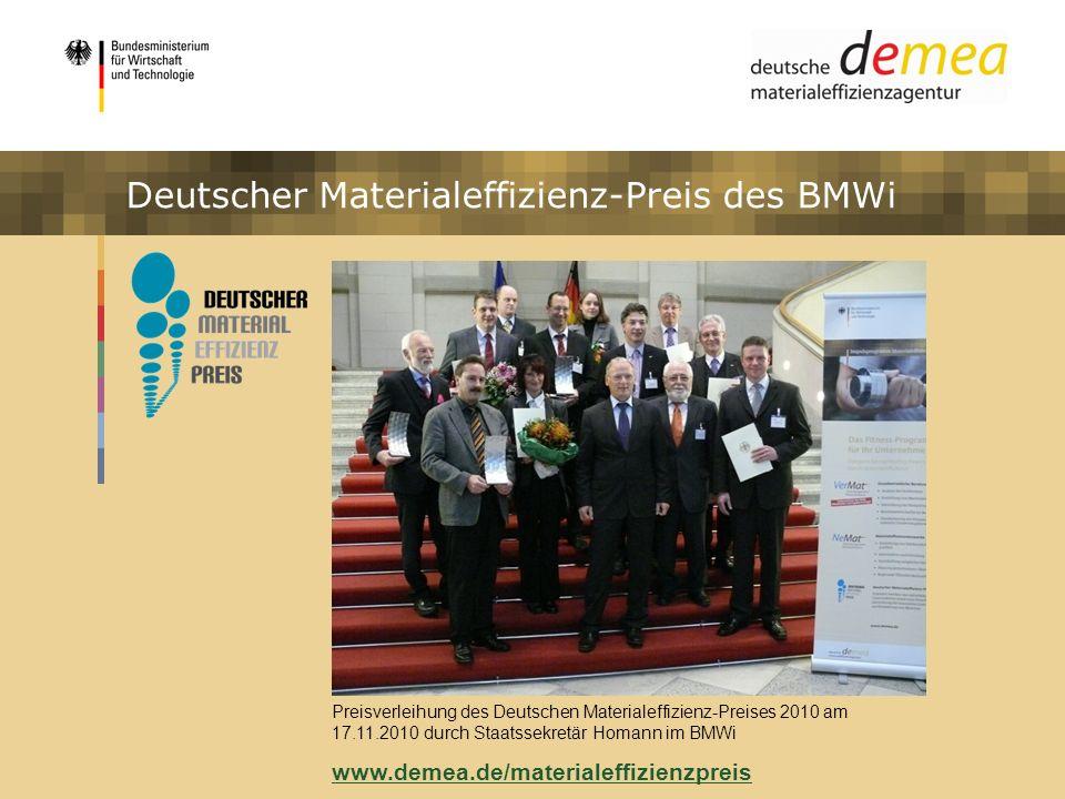 Deutscher Materialeffizienz-Preis des BMWi