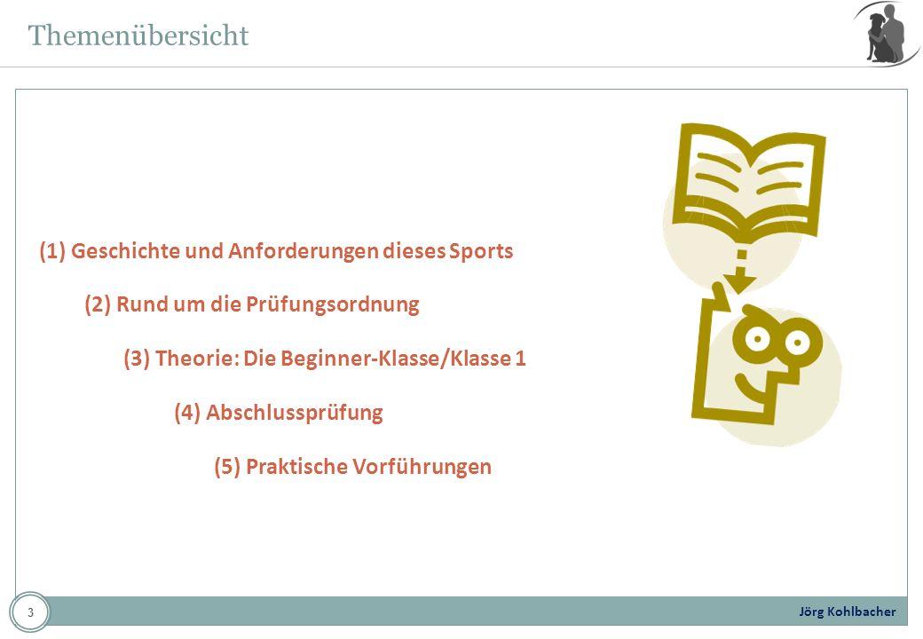 Themenübersicht (1) Geschichte und Anforderungen dieses Sports
