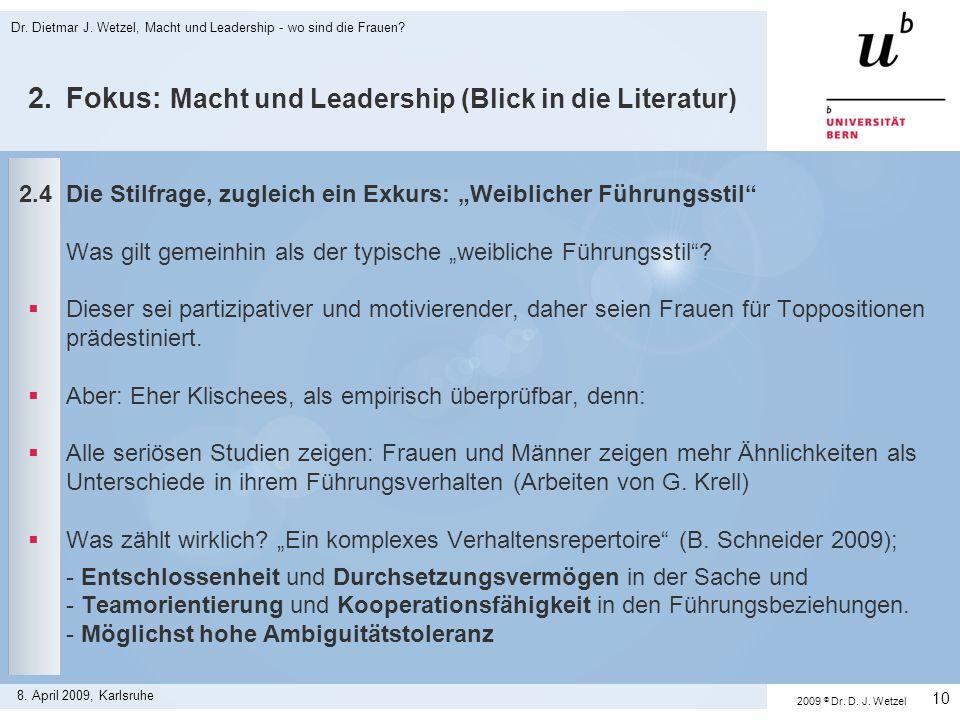 2. Fokus: Macht und Leadership (Blick in die Literatur)