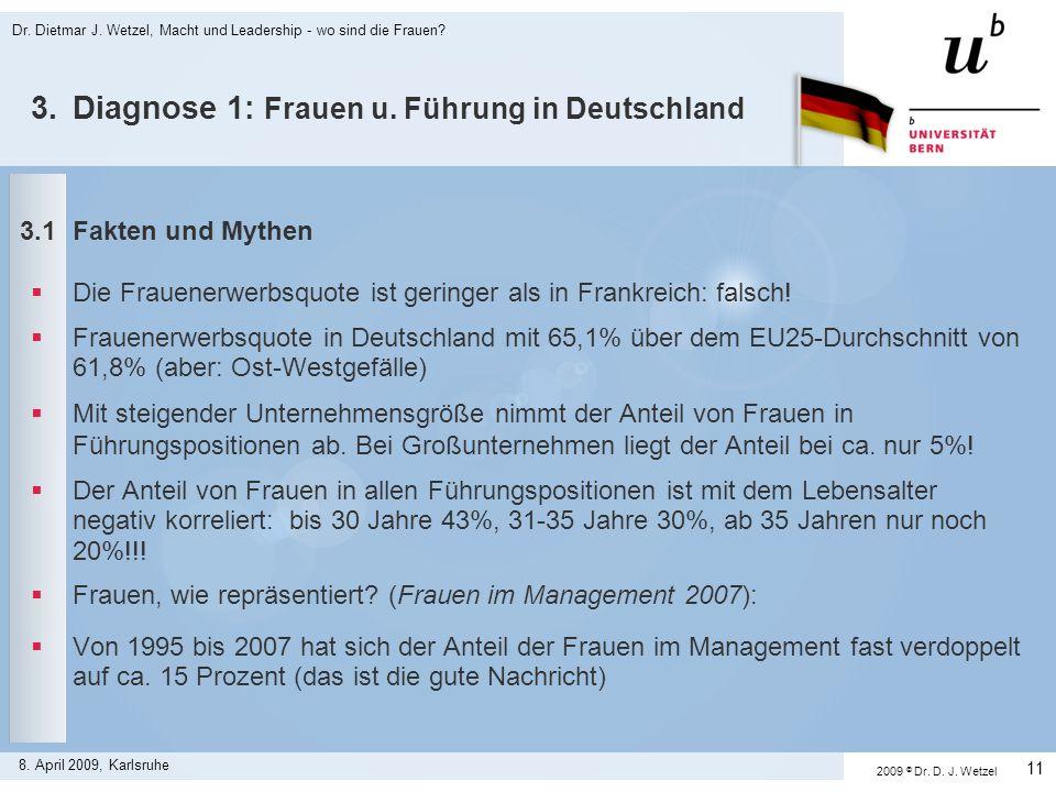 3. Diagnose 1: Frauen u. Führung in Deutschland
