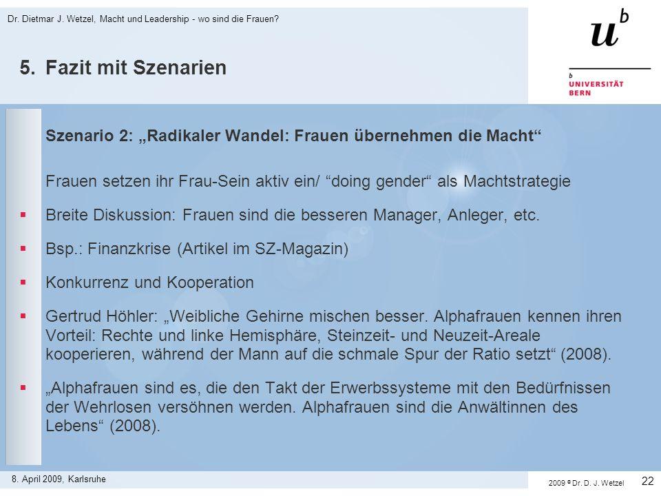Dr. Dietmar J. Wetzel, Macht und Leadership - wo sind die Frauen