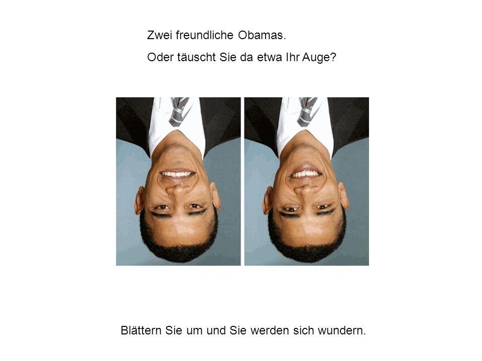 Zwei freundliche Obamas.