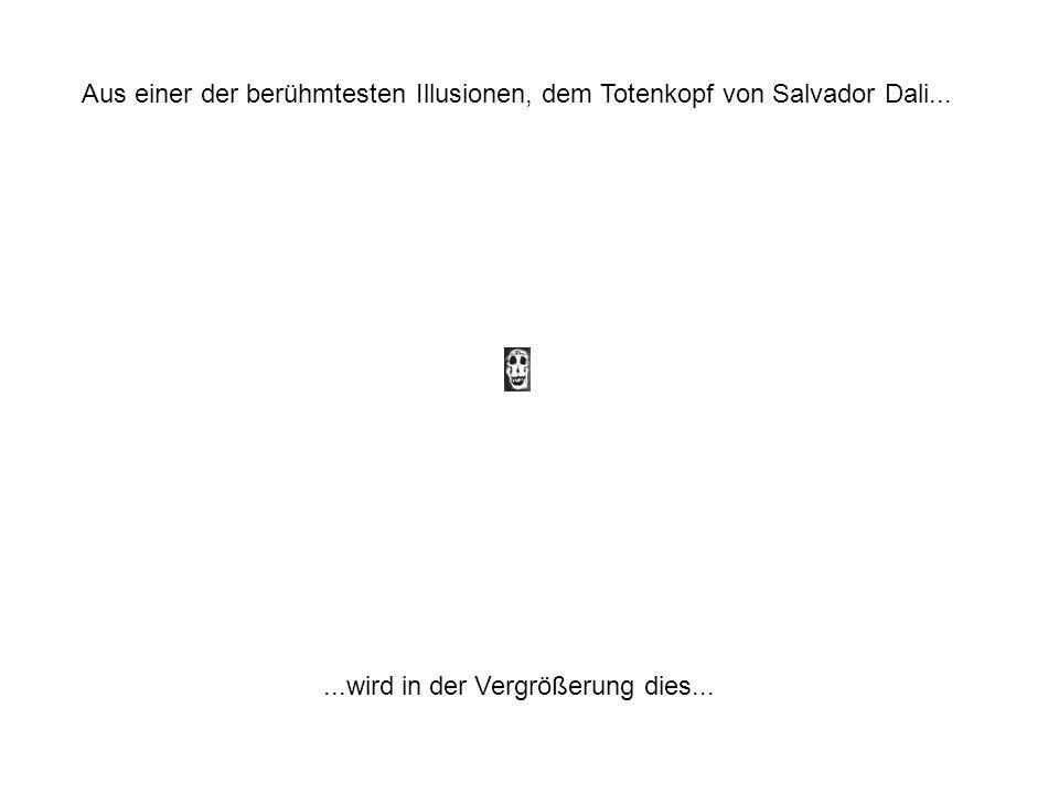 Aus einer der berühmtesten Illusionen, dem Totenkopf von Salvador Dali...