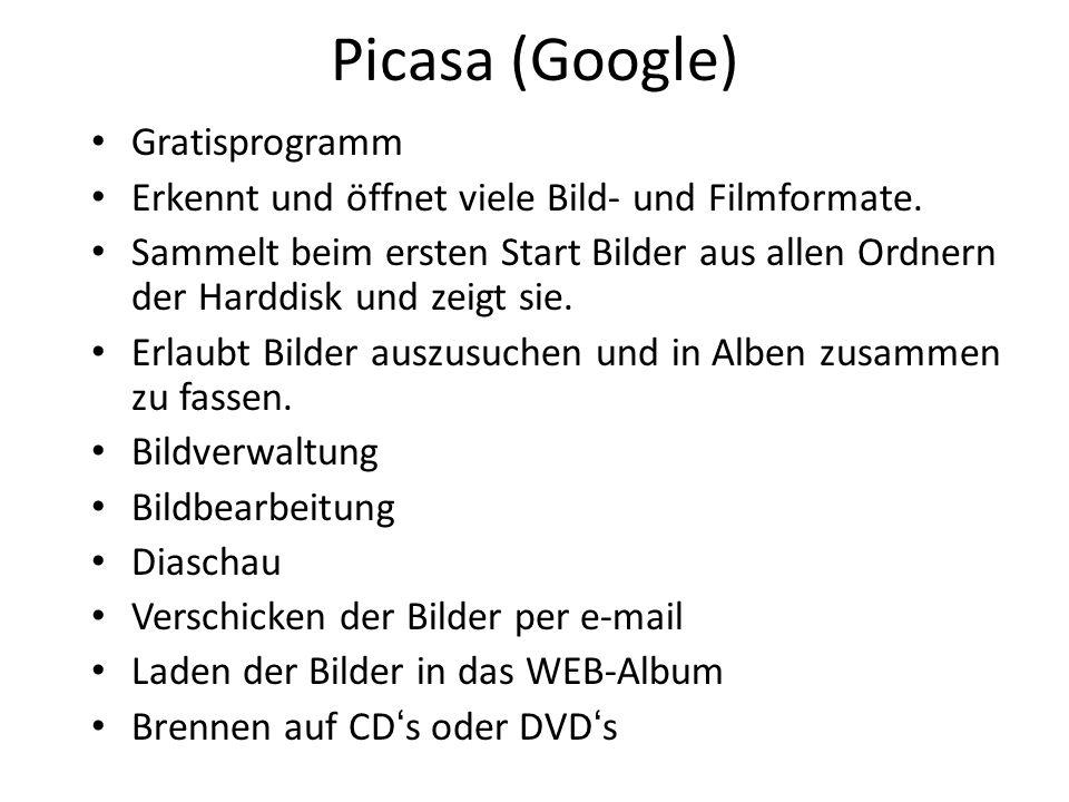 Picasa (Google) Gratisprogramm