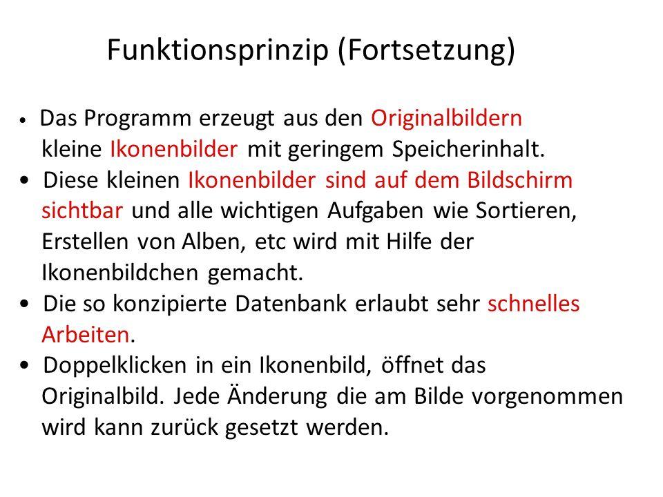 Funktionsprinzip (Fortsetzung)