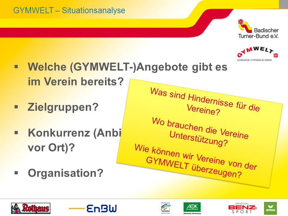GYMWELT – Situationsanalyse