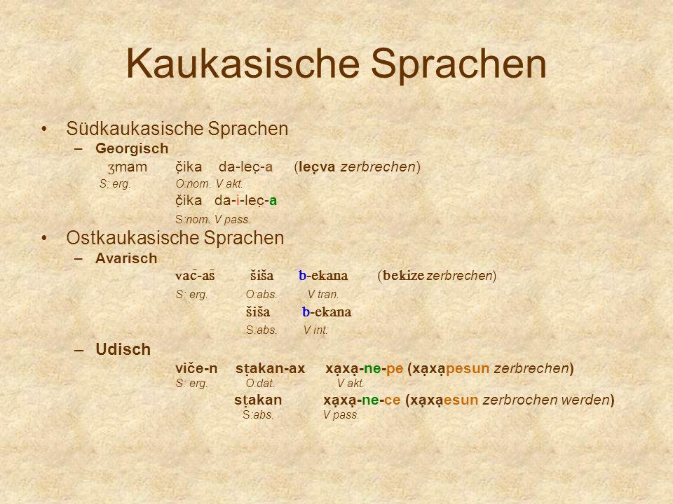 Kaukasische Sprachen Südkaukasische Sprachen Ostkaukasische Sprachen