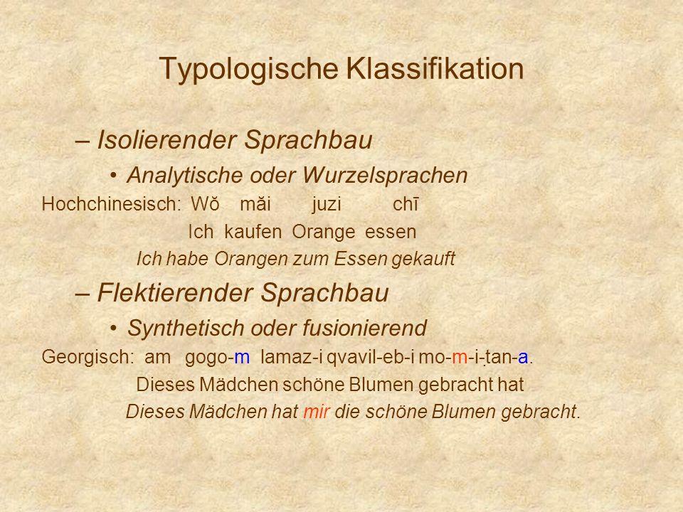Typologische Klassifikation