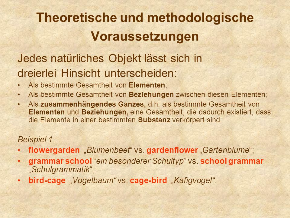 Theoretische und methodologische Voraussetzungen