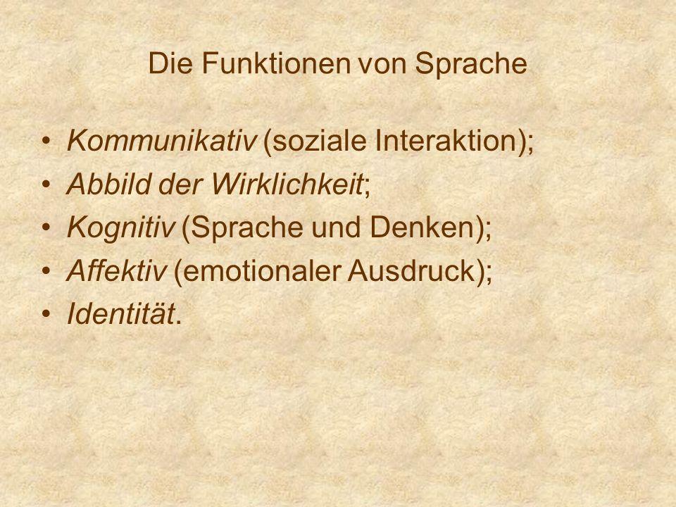 Die Funktionen von Sprache