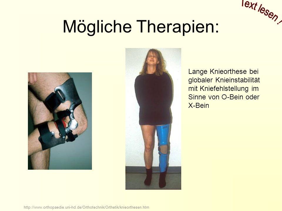 Mögliche Therapien: Text lesen !