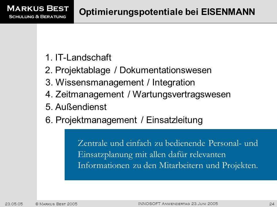 Optimierungspotentiale bei EISENMANN